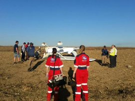 Aircraft crashes in Midrand