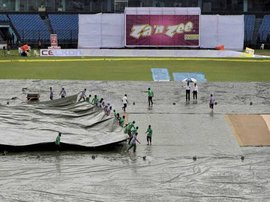 Wet outfield cricket