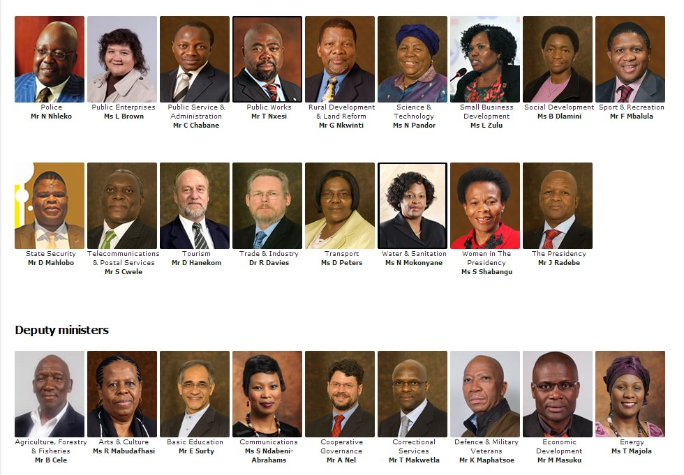 SA Cabinet in one song (Audio)