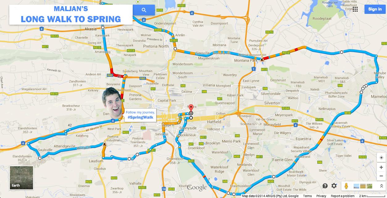 MalJan's Long Walk to Spring - Day 1