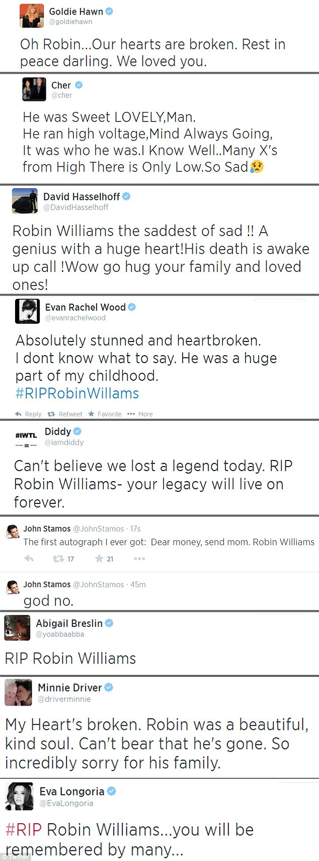 Daily Mail Tribute Robin Williams