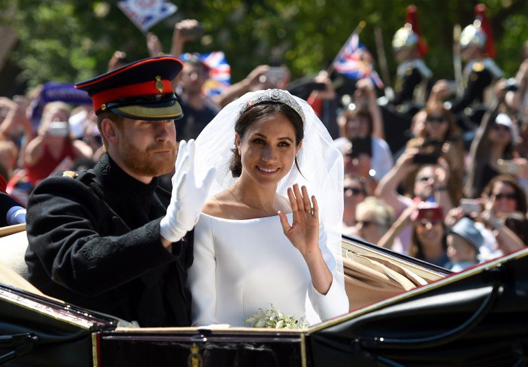Meghan and Prince Harry at wedding