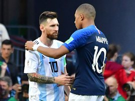 Mbappe Messi World Cup