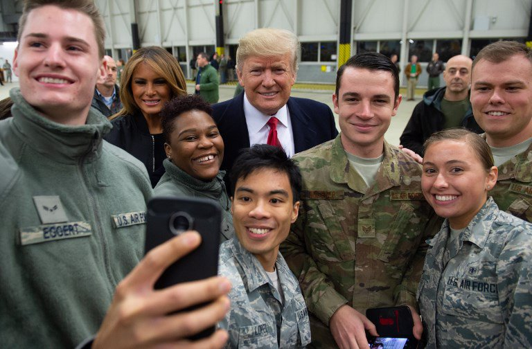 Donald Trump Iraq visit