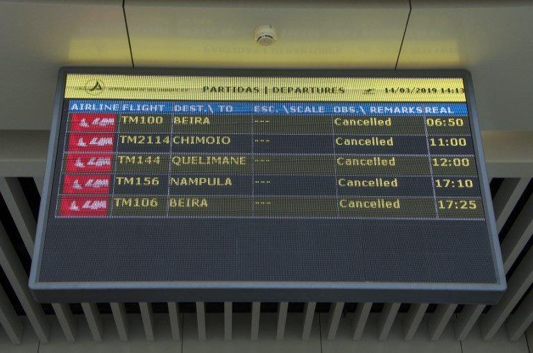 Mozambique storm flights