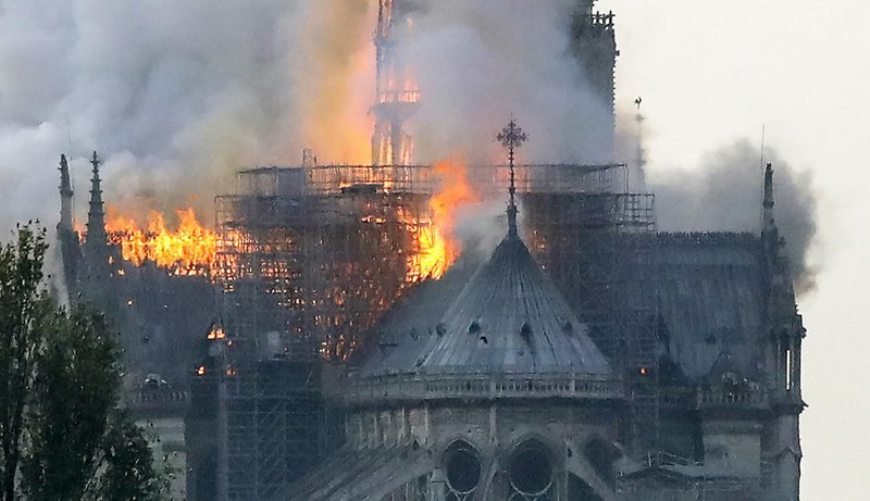 Fire breaks out at Notre-Dame cathedral in Paris profile 2
