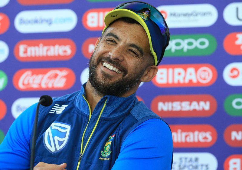 South Africa's JP Duminy attends a press conference at the Riverside Ground, in Chester-le-Street, northeast England on June 27, 2019, ahead of their 2019 Cricket World Cup group stage match against Sri Lanka.  Lindsey PARNABY / AFP