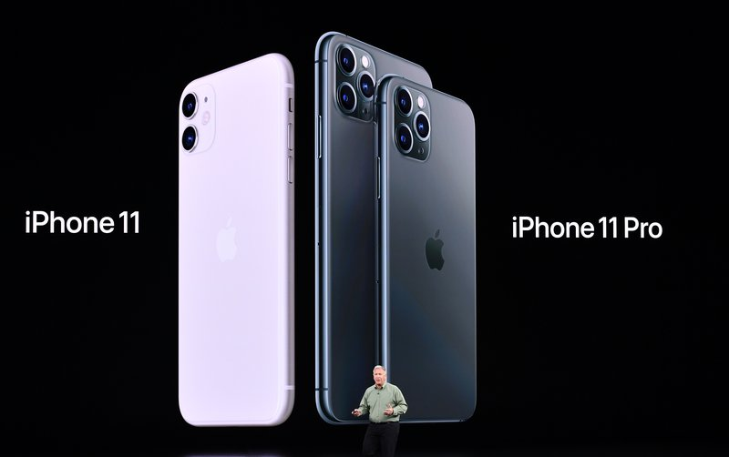 Apple Senior Vice President of Worldwide Marketing Phil Schiller introduces the new iPhone11 / Josh Edelson / AFP