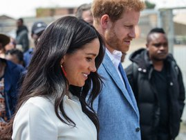 Prince Harry Meghan Markle Tembisa - AFP