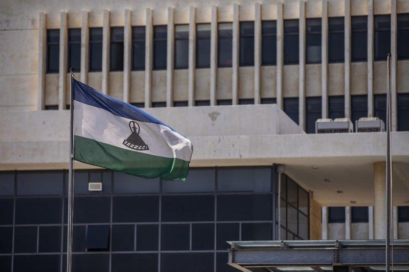Lesotho Flag - AFP