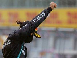 Lewis Hamilton BLM - AFP