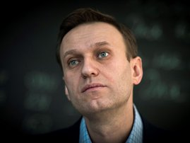 This file photo taken on January 16, 2018 shows Russian opposition leader Alexei Navalny during an interview with AFP at the office of his Anti-corruption Foundation (FBK) in Moscow. Tests carried out on Russian opposition leader Alexei Navalny provide cl