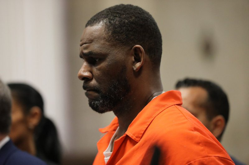 In this file photo taken on September 16, 2019 Singer R. Kelly appears during a hearing at the Leighton Criminal Courthouse in Chicago, Illinois. A woman told R. Kelly's trial August 19, 2021 that the disgraced R&B star choked her until she passed out du