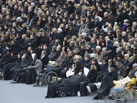 France memorial for victims of Paris attacks crowd