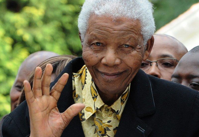 Nelson Mandela - ALEXANDER JOE / AFP