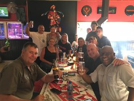Our SDD, Quinton meet some of the locals at Prime Time Sports Bar in Kempton Park