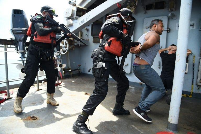 Nigerian navy speedboat