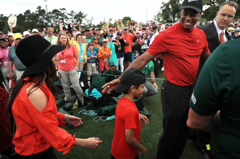 Tiger and Charlie Woods - AFP