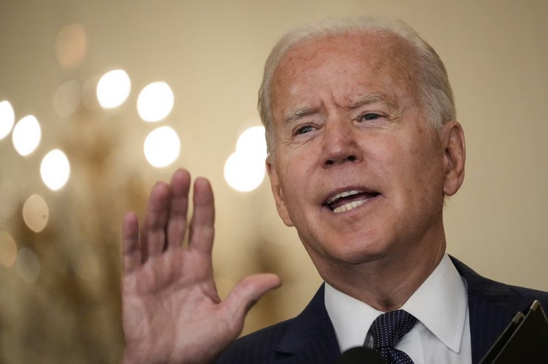 U.S. President Joe Biden speaks about the situation in Afghanistan in the East Room of the White House on August 26, 2021 in Washington, DC. At least 12 American service members were killed on Thursday by suicide bomb attacks near the Hamid Karzai Interna