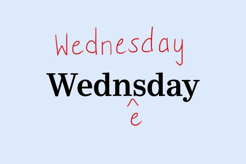 Wednesday hard spelling