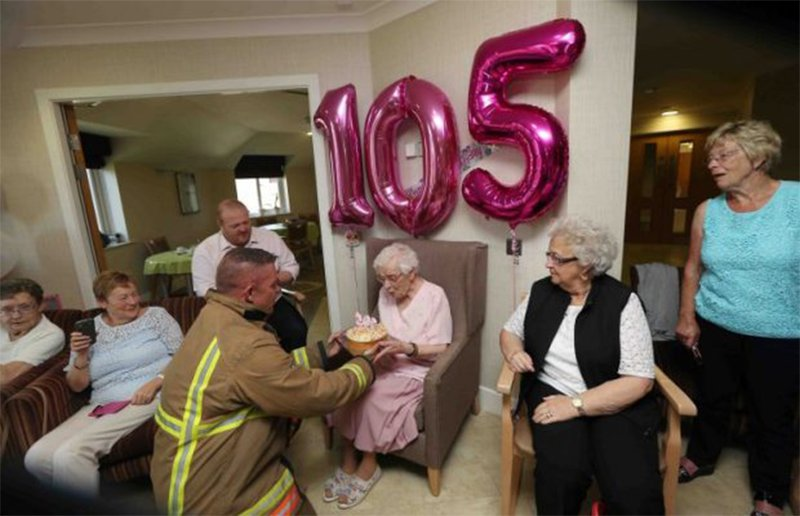 105-year-old birthday surprise