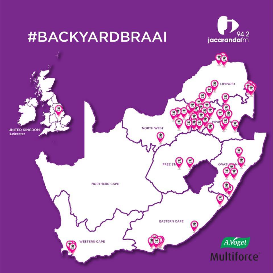 #BackyardBraai Map