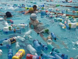 Joburg school fills pool with plastic