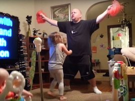 This mom was in for a real treat when she replayed the hidden camera dad didn't know what there!