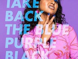 blue purple black campaign