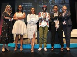 Wrenelle Stander, Ipeleng Mkhari, Minnie Dlamini, Mzamo Masito, Boni Mchunu and Nicola Tyler.
