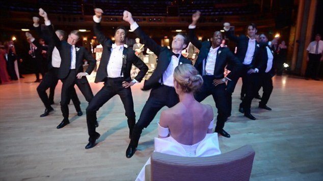 Without a doubt the BEST groomsmen dance at a wedding ever!