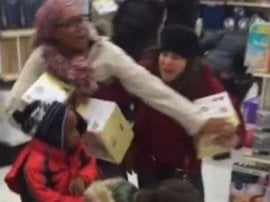 Watch: Woman snatches steamer from a CHILD in Black Friday sale
