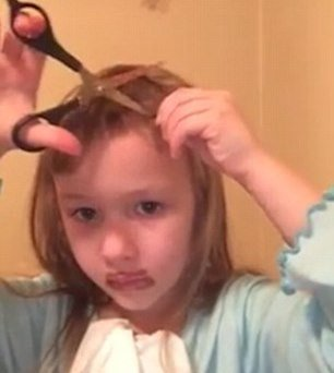 5 Year Old Girl Chops Her Hair Off And Her Grandma Freaked