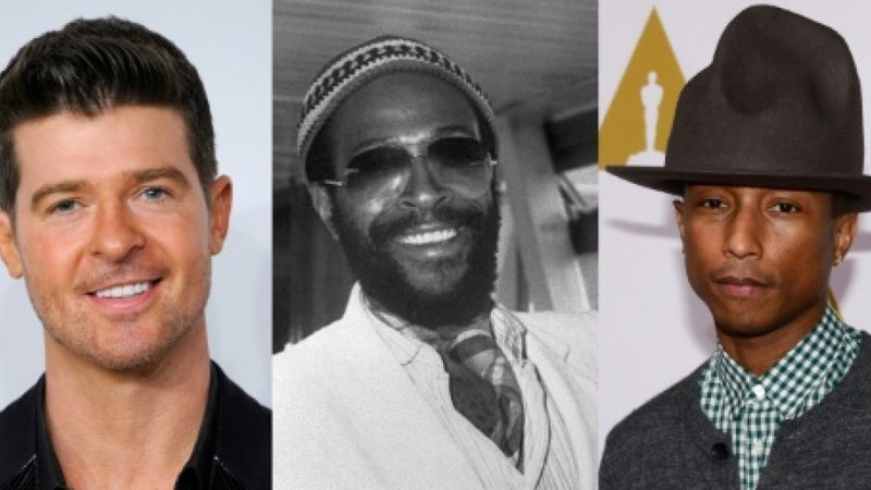 Robin Thicke, Marvin Gaye and Pharrell Williams