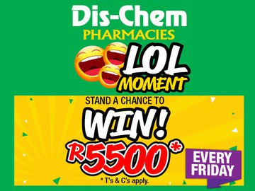 Stand a chance to win a R5 500 Dis-Chem voucher