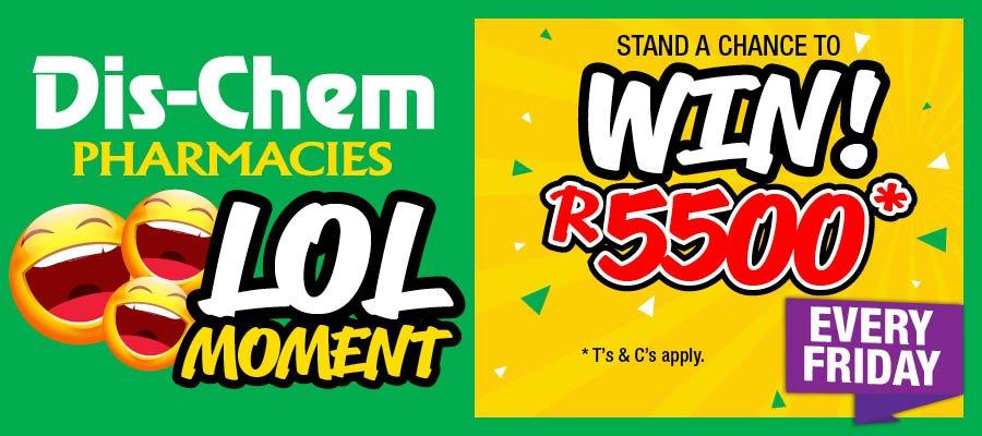 Win a R 5000 Dis-chem voucher