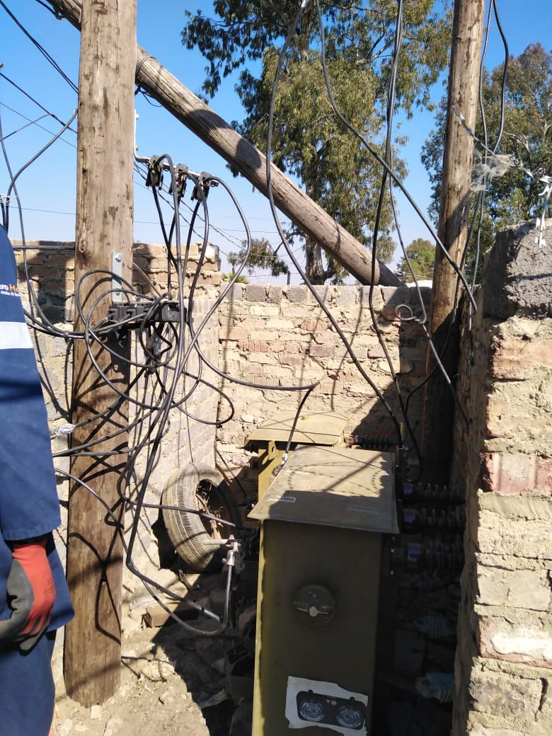 illegal connections Eskom electricity