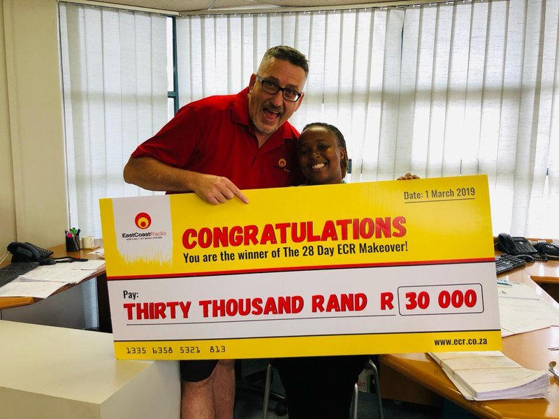 darren and nondumiso and the R30 000 cheque