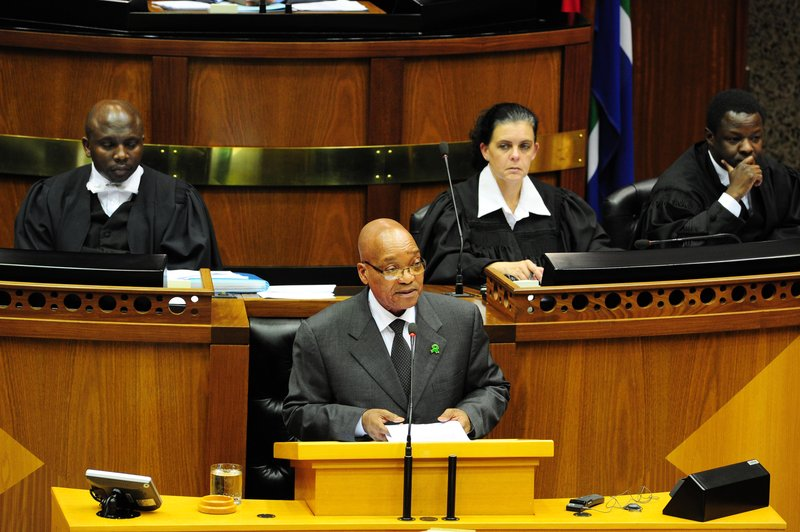 Jacob Zuma in Parliament_gcis