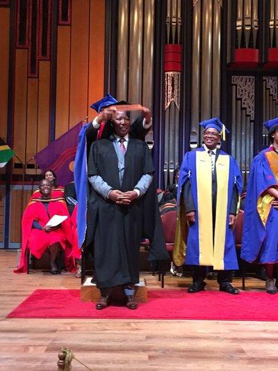 EFF leader, Julius Malema took part in a graduation ...