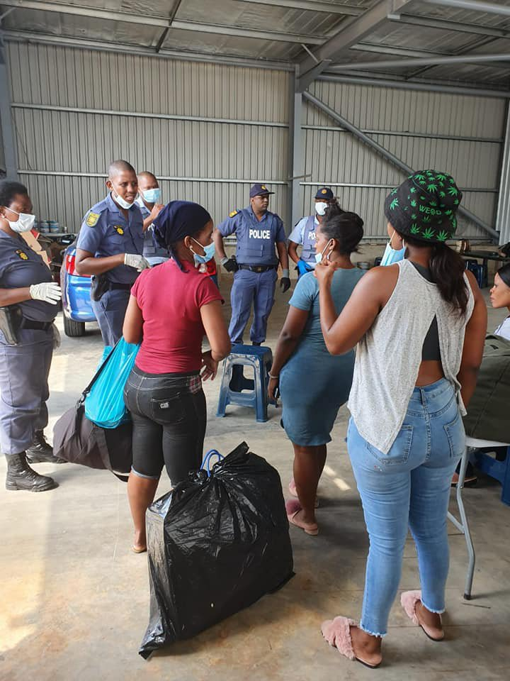 Workers in Durban factory