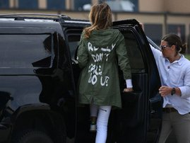 Melania trump controversial jacket