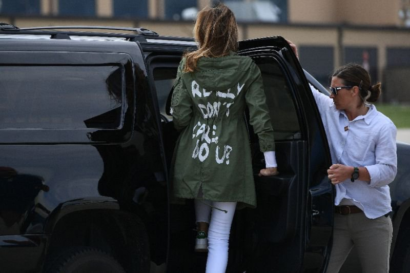 Melania trump controversial jacket