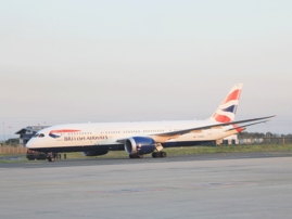 British Airways flight landing in Durban