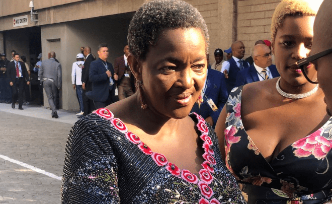 Bathabile Dlamini at the 2019 State of the Nation Address