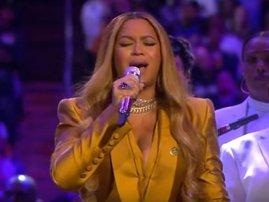 Beyonce performs at Kobe's memorial service