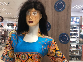 Black face mannequin in Dis Chem