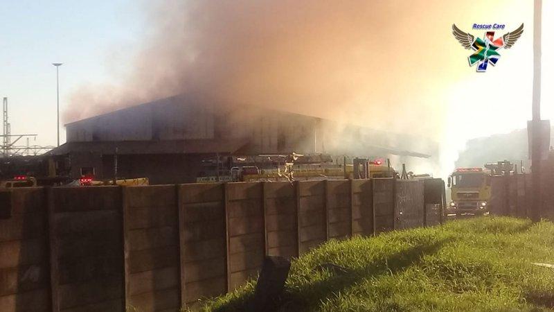 Fire guts Bluff warehouse
