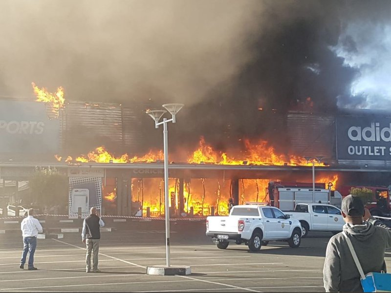 Boksburg Shopping Centre Fire