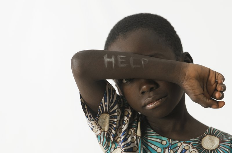 Boy asking for help
